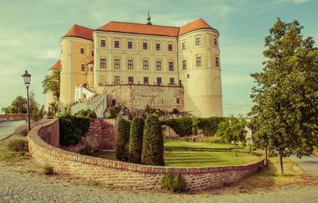 europeans: Famous Mikulov Castle in Czechia Moravia. European Castle.