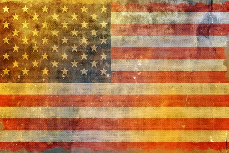 grungy: Grungy American Flag Background. United States Flag Grungy Style Backdrop.