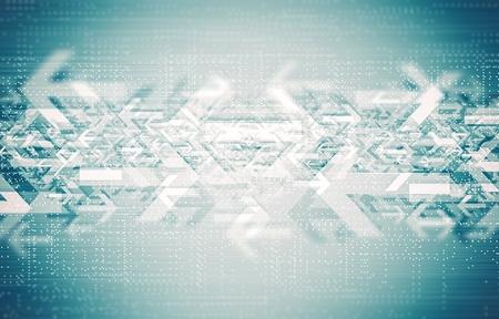 De Technology Routebeschrijving Concept illustratie. Abstracte pijlen achtergrond.