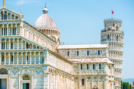 pisa: Pisa Italy Architecture. Famous Leaning Tower of Pisa. Stock Photo