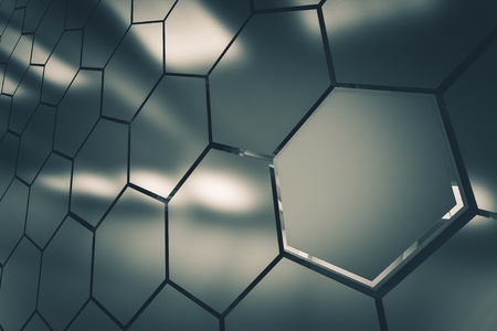 clusters: Metallic Clusters Background 3D Render Illustration. Modular Clusters Backdrop. Stock Photo