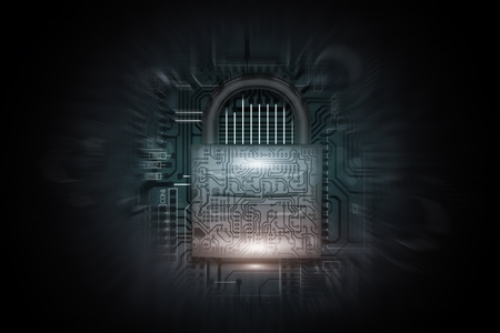 Internet Networks Safety Conceptual 3D Rendered Illustration. Secured Technology.