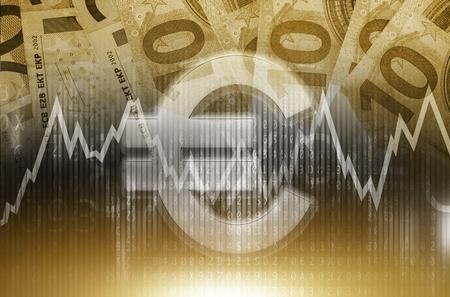nasdaq: Euro Trading Conceptual. Currency Forex Trading. Euro Value.