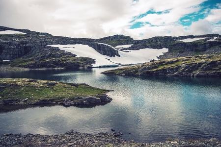 mountain landscape: Mountain Glacial Lakes Landscape. Crystal Clear Mountain Water. Mountain Landscape