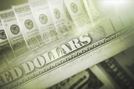business loans: American Dollars Green Background. United States Dollars Backdrop. Stock Photo