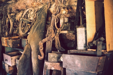 stuff: In the Old Wooden Barn. Aged Barn Equipment and Other Old Stuff.