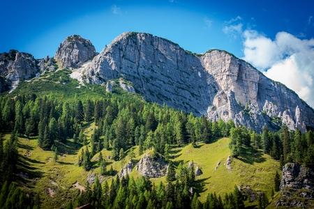landschap: Zomer in Dolomieten Landschap. Italiaanse Dolomieten Berglandschap.
