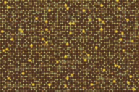blinking: Blinking Golden Background. Shiny Golden Circles Pattern Backdrop.