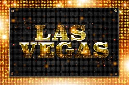 blinking: Blinking Las Vegas Sign Conceptual Illustration. Las Vegas, Nevada. Stock Photo