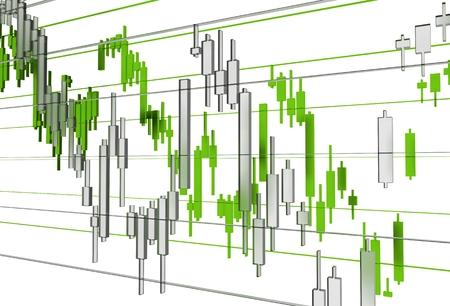 stat: Clean Forex Market Stat Graphs Concept 3D Rendered Illustration. Global Currency Market. Stock Photo