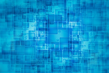 Blue Abstract Technology Square Background Illustration.