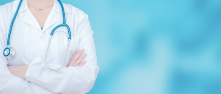 a medical examination: Doctor Office Banner Background. Stock Photo