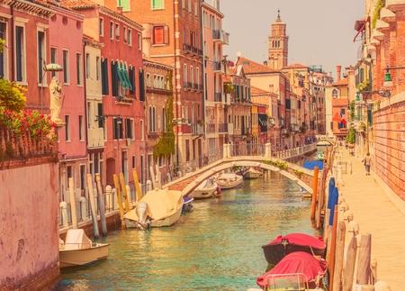 italian architecture: One of the Venetian Channel Venice, Italy. Italian Architecture.