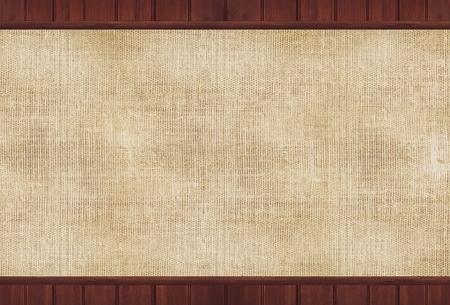 Hout en Canvas achtergrond illustratie. Canvas achtergrond.