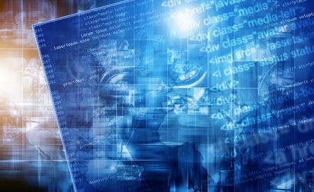 Programming Web Technologies Concept Illustration. Website Programming Conceptual Image. Stock Photo