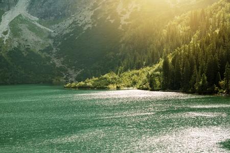 morskie: Morskie Oko Mountain Lake. Tatra Mountains Landscape. Zakopane, Poland.