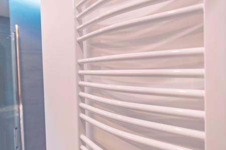 modern bathroom: Modern White Bath Towel Warmer. Bathroom Heating Equipment