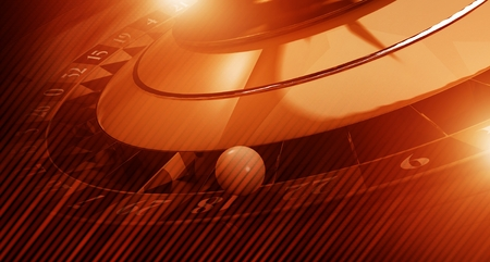 Reddish Roulette Banner Background 3D Rendered Illustration. Casino Roulette Game Concept with Copy Space. Reklamní fotografie