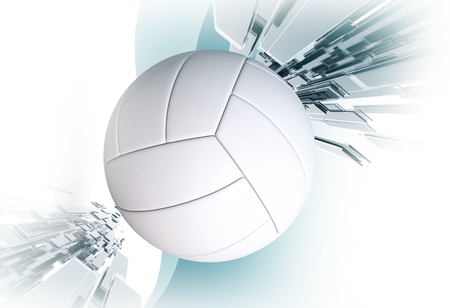 Volleyball Sport Event Concept 3D Rendered Illustration. Volleyball Ball. Stok Fotoğraf