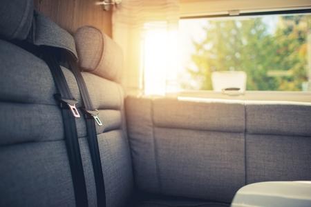 motorcoach: RV Traveling Comfort. Camper Van Motorcoach Passengers Seats.