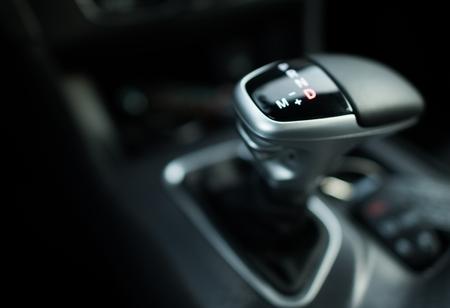 Automatic Transmission Drive. Modern Shifter Stick Closeup Photo.