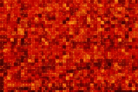 Red Pixel Dots Background. Squares and Circles Pattern Bloody Red. 2D Illustration. Stock Photo