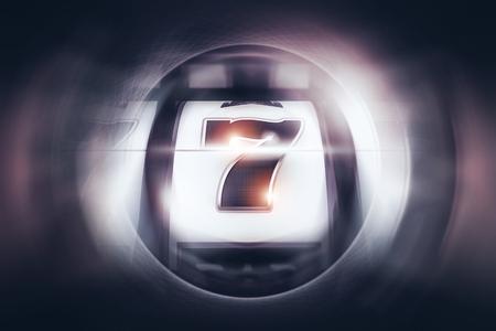 Lucky Seven Slot Spin Concept 3D Rendered Illustration. Vegas Casino Gambling. Stock fotó - 95121827