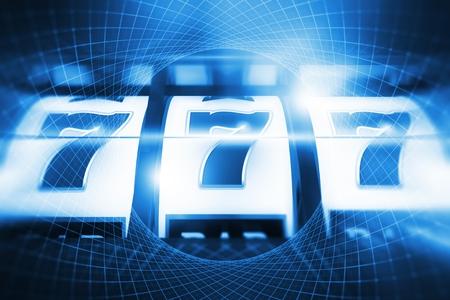 Casino casino juego. concepto de la máquina tragaperras amarilla del casino del super 3d ilustración de la imagen . Foto de archivo - 96122628