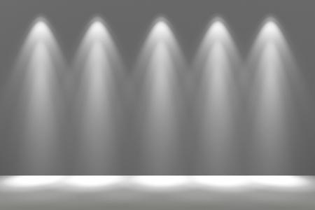 Spotlight Illuminated Wall Background 3D Rendered Illustration. Imagens