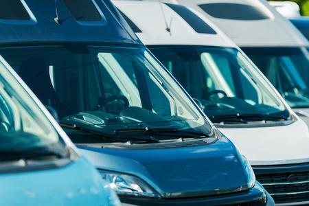 Pre Owned Motorcoaches Camper Vans For Sale. Recreational Vehicles Industry.  Reklamní fotografie