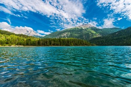 The Blindsee Lake Below the Fernpasses in the Tyrol Region of Austria. Reklamní fotografie