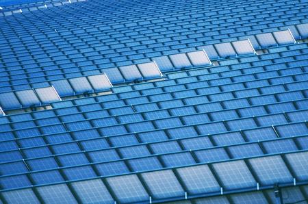 Large Photovoltaic Power Plant. Modern Renewable Energy Plant