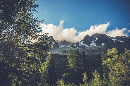 Swiss Alp Mountains Landscape. Jungfrau Region, Switzerland, Europe. Summer Alpine Scenery. Reklamní fotografie