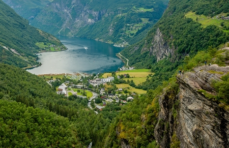 Scenic View Point in the Geiranger and Geirangerfjord, Norway, Europe.