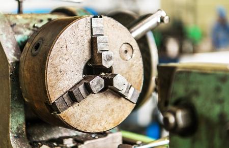 Classic Lathe Head Metalworking Industry Theme.