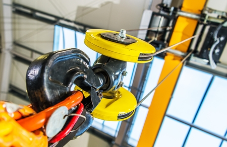 Heavy Duty Warehouse Crane Closeup Photo. Reklamní fotografie