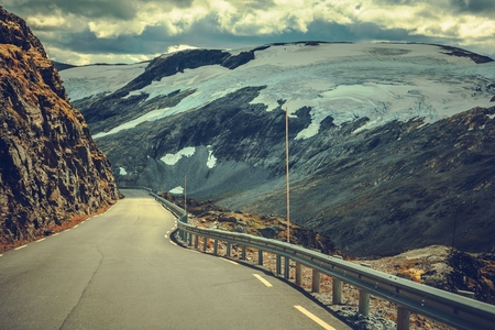 Scenic Norwegian Alpine Route. Travel in the Norway, Europe.
