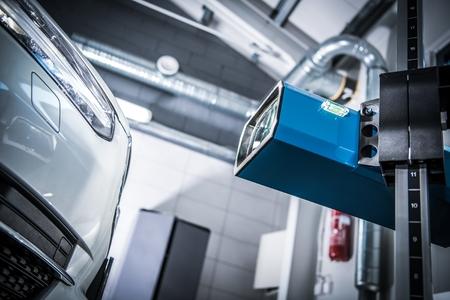 Car Headlight Adjustment and Aim Check Using Professional Headlight Aimer.