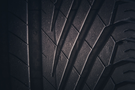 Car Summer Tire Rain Tread. Automotive Element. Reklamní fotografie