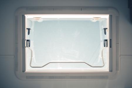 Recreation Vehicle Roof Ventilation. RV Industry Theme. Stockfoto