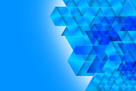 Geometric Blue Abstract Background Illustration.