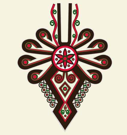 Polish Highlanders Emblem Element Illustration Isolated on White. Parzenica Design.