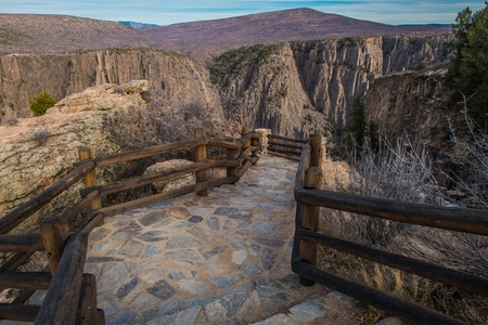 Scenic Black Canyon Wooden Trail in Gunnison, Colorado, United States of America. Reklamní fotografie