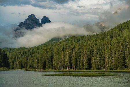 Lago Di Misurina, Auronzo di Cadore Belluno, Italy. Lake Misurina Italian Dolomites.