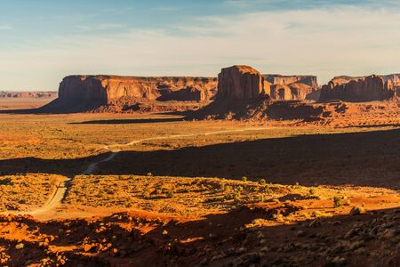 Sandstone Buttes of Monument Valley Navajo Tribal Park. Arizona and Utah Border. United States of America.