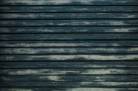 Aged Blue Paint Wooden Wall Background Photo. Imagens