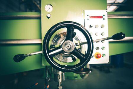 Lathe Machine Elements. Metalworking Industry Equipment. Imagens
