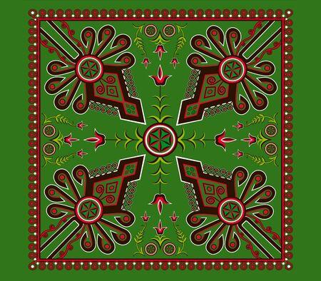 Zakopane Parzenica Design. Lesser Poland Highlanders Traditional Elements.