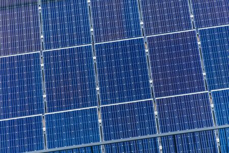 Photovoltaic Solar Panels For Generating Renewed Electricity. Modern Technologies of the Future.