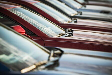 Automotive Sale Business. Dealership Lot. Brand New Cars For Sale. Stok Fotoğraf